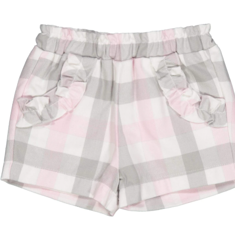 SHORT IN FLANELLA FANTASIA QUADRI